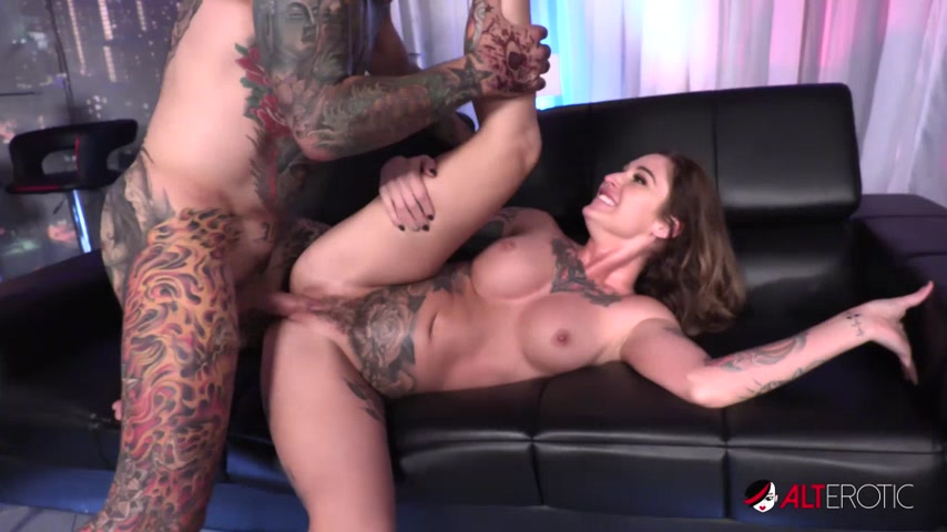 Big Tits Inked Up Kleio Valentien Gets Hairy Pussy Fucked by Big Cock