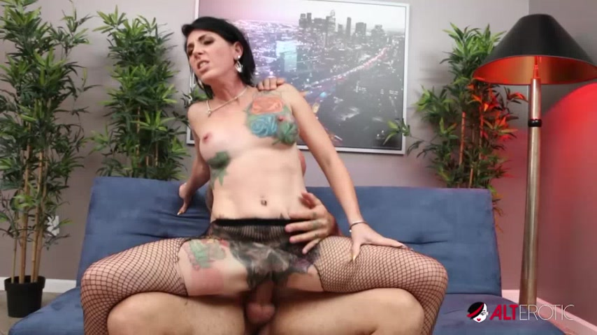 Marie Bossette bares it all, tattooed pussy and tits, for a hot photoshoot