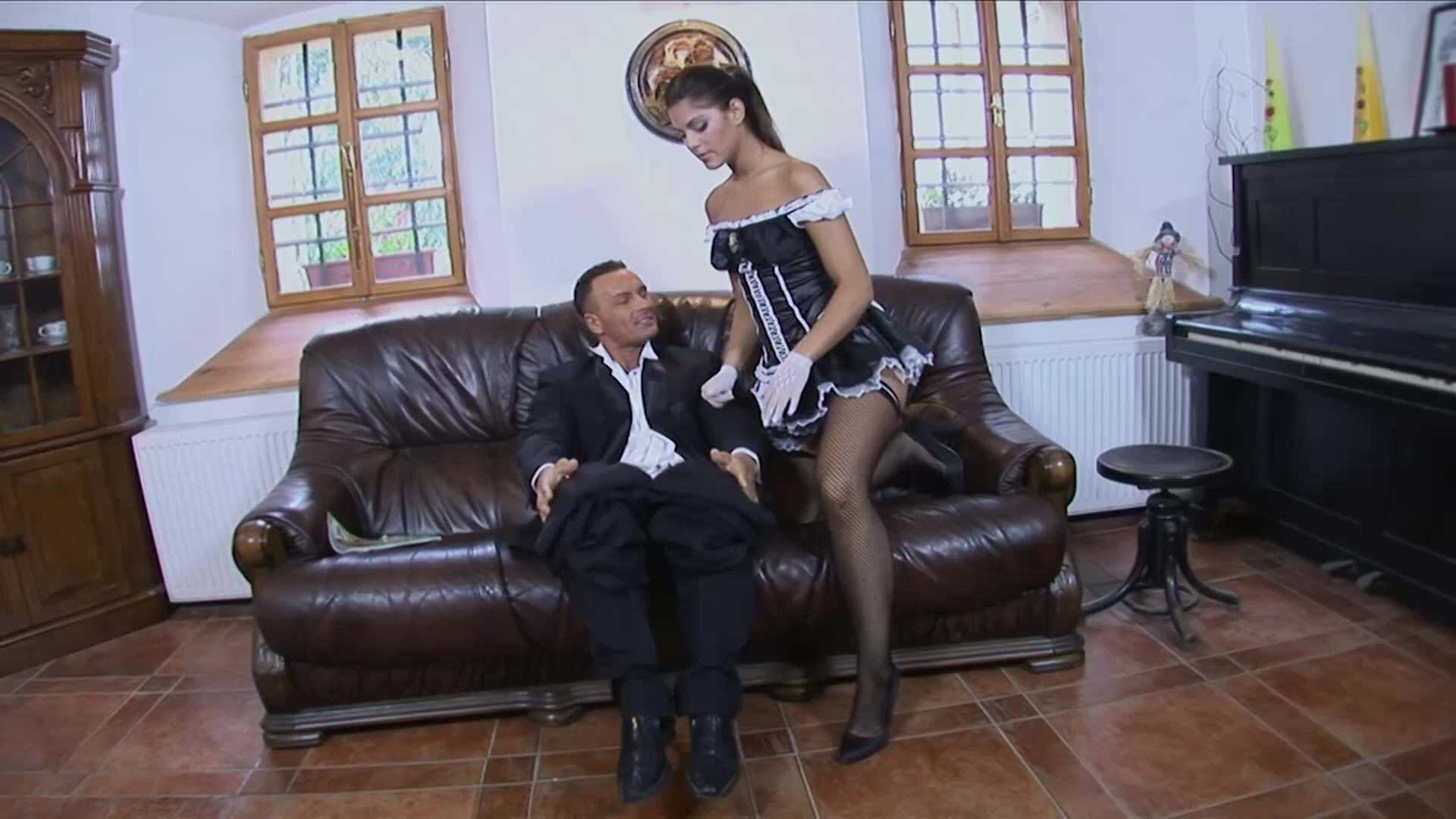 Dirty cleaning anal housemaid